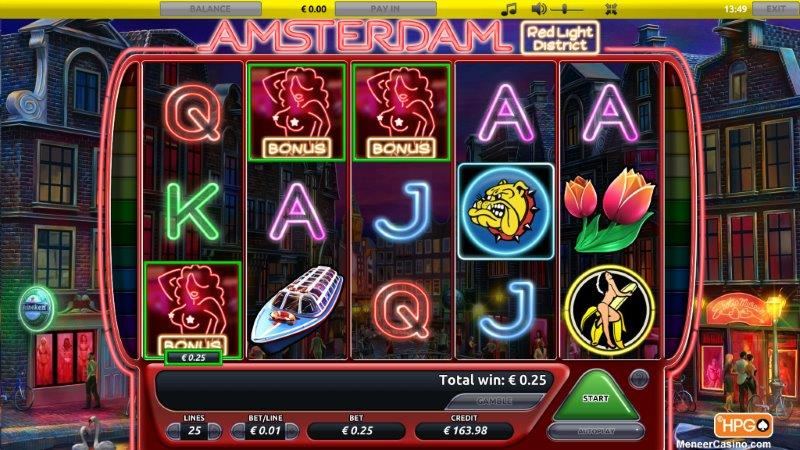 Amsterdam Red Light District slot free spins